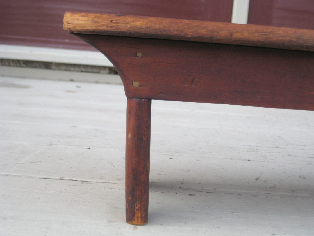 Small Red Bench